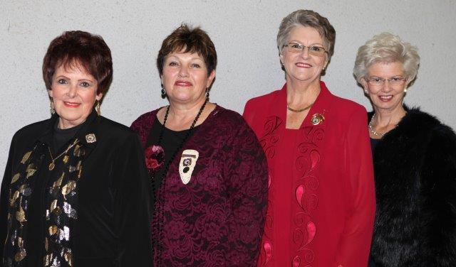 Van links Loraine Symington, Cecilia Louw, Karien van Schalkwyk en Erika Lubbe